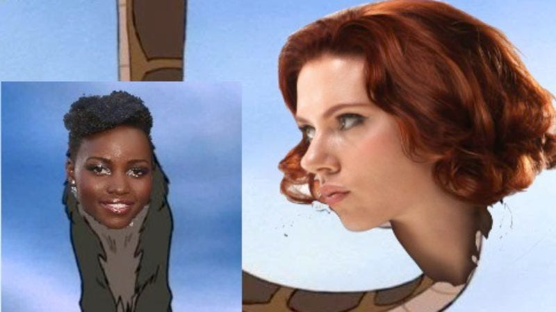 Illustration for article titled Scarlett Johansson and Lupita Nyong'o may join The Jungle Book