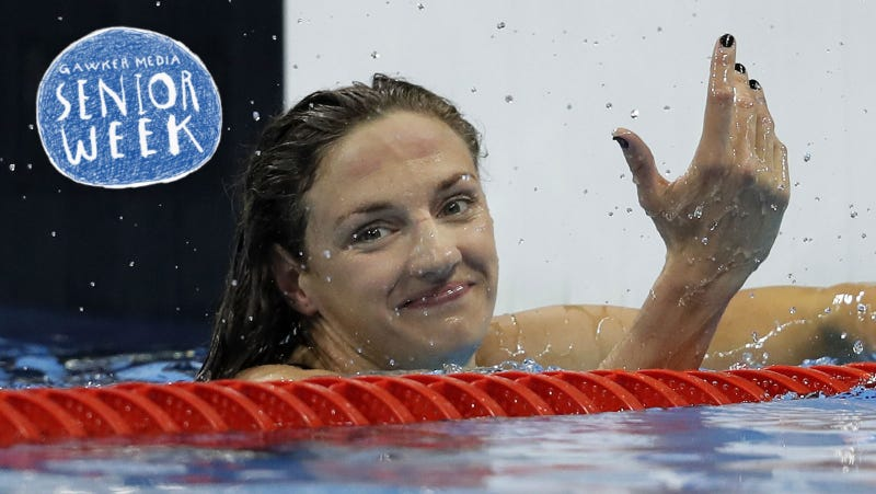 Katinka Hosszú is a winner. She is also from Hungary. Go Hungary. Image via AP.