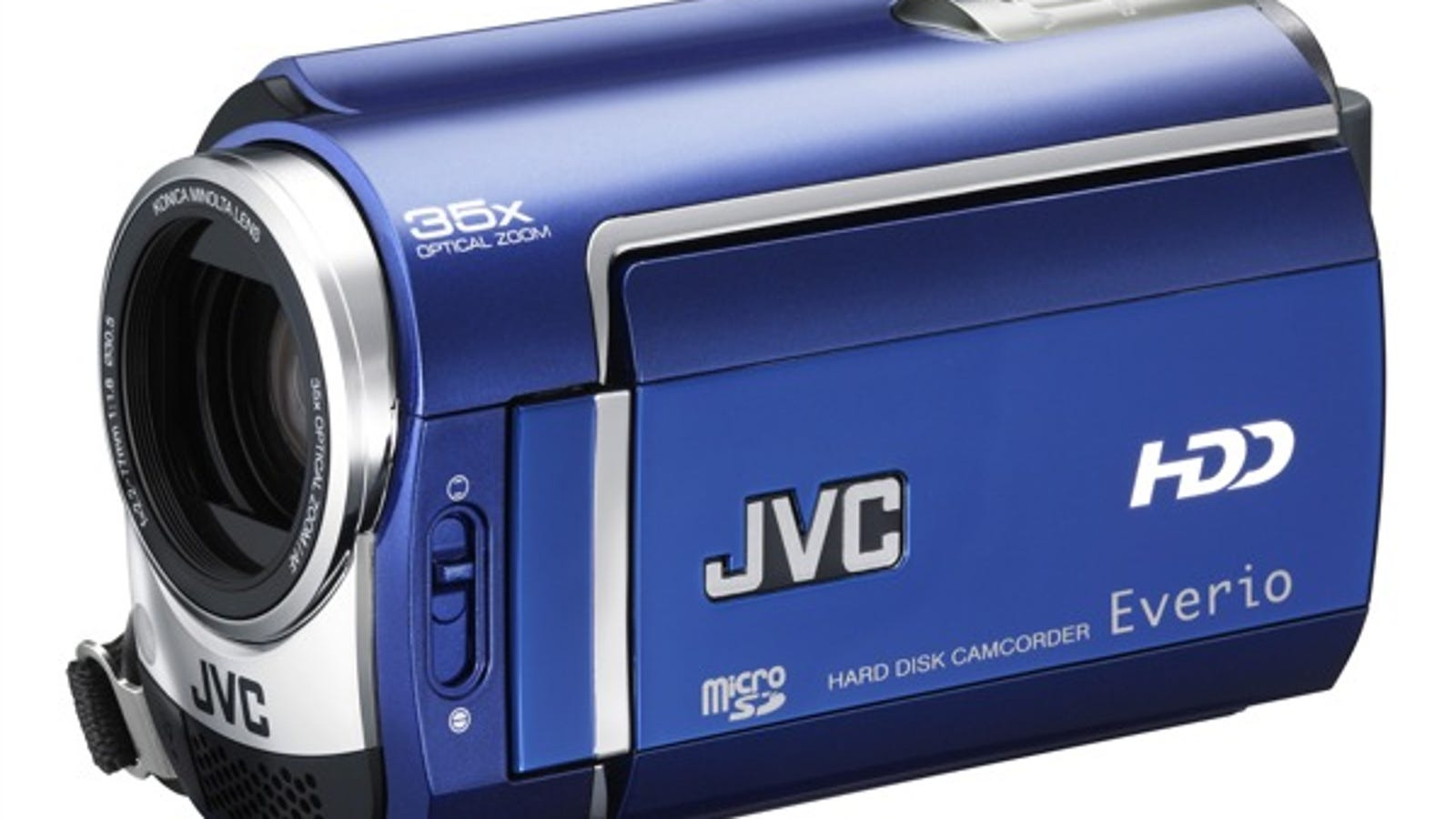 JVC Introduces New Slim HDD Everio Camcorders In Blue, Red, Silver and Black