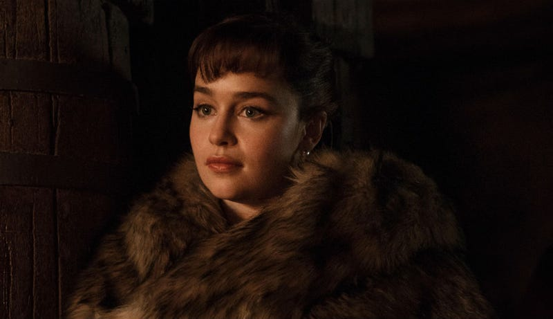 Emilia Clarke, who plays Qi'ra, was part of George Lucas' contribution to Solo: A Star Wars Story.