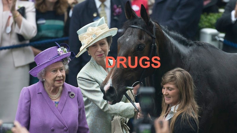 Illustration for article titled ROYAL SCANDAL: Queen's Racehorse Caught Doping