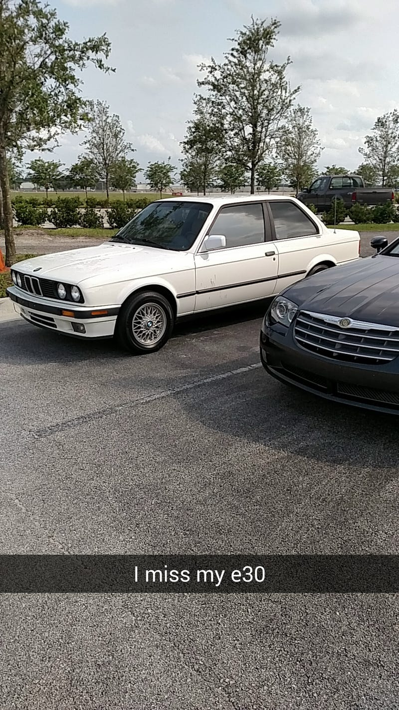 This E30 is not mine, but found on campus. Made me miss mine.