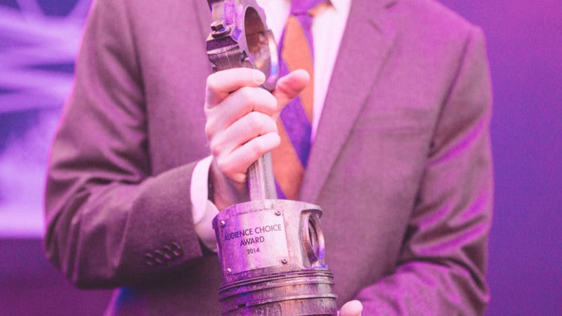 Illustration for article titled APEX Wins Jalopnik Film Festival Audience Choice Award, Piston Trophy
