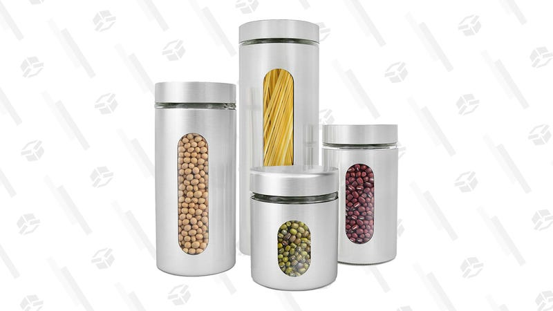 Estilo Stainless Steel Canisters, Set of 4 | $18 | Amazon