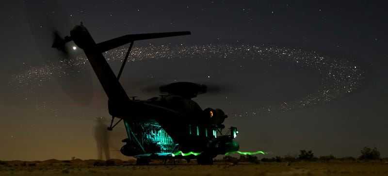 Illustration for article titled Helicopter Sparks Draw a Beautiful Galaxy on the Night Sky