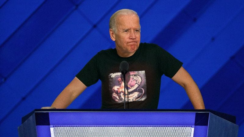 Illustration for article titled Biden Chokes Up While Describing Hardworking Americans Who Can Only Afford Shitty Ditch Weed