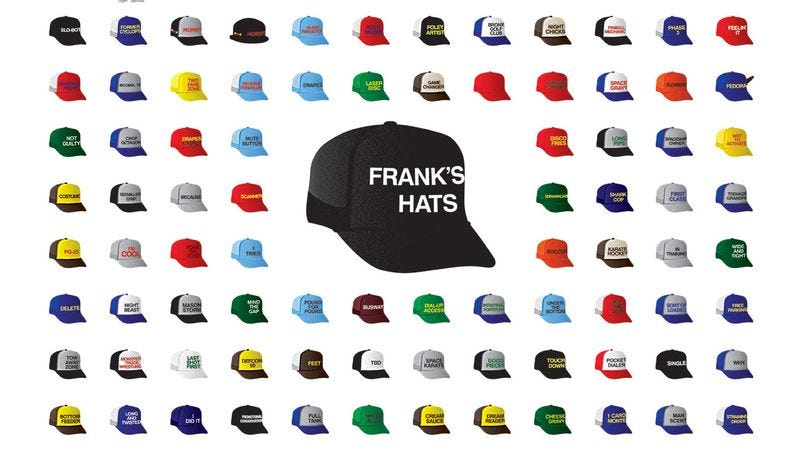 Illustration for article titled Here's a poster of every hat Frank wore on 30 Rock