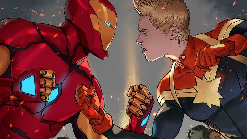 Illustration for article titled Civil War II fails to capitalize on the success of the Marvel Cinematic Universe