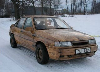 Illustration for article titled Wood Paneling, Schwood Paneling: How About An Opel Made Entirely Of Tree?