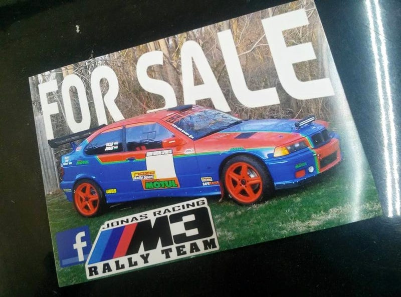 Illustration for article titled BMW rally car for sale