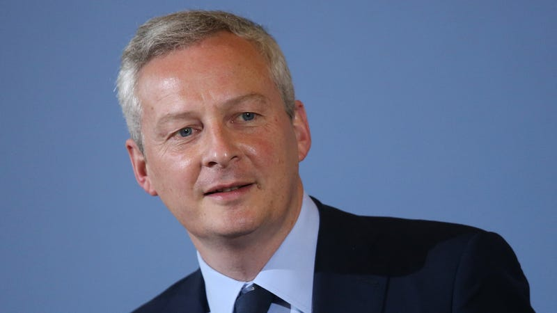 File photo of French Finance Minister Bruno Le Maire on May 22, 2017 in Berlin, Germany.