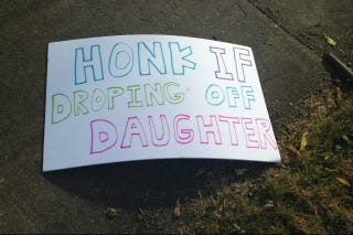 Illustration for article titled 'Honk If Droping Off Daughter': Sad, Weird College Sex Banners Across America