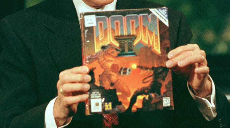 Illustration for article titled Someone made the original Doom look like its righteous box art