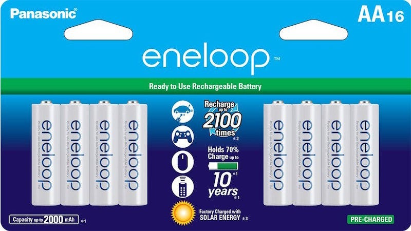 Illustration for article titled Bestsellers: Eneloop AA Rechargeable Batteries