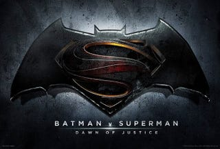 Illustration for article titled Here's the official logo for the new Batman V Superman Dawn of Justice