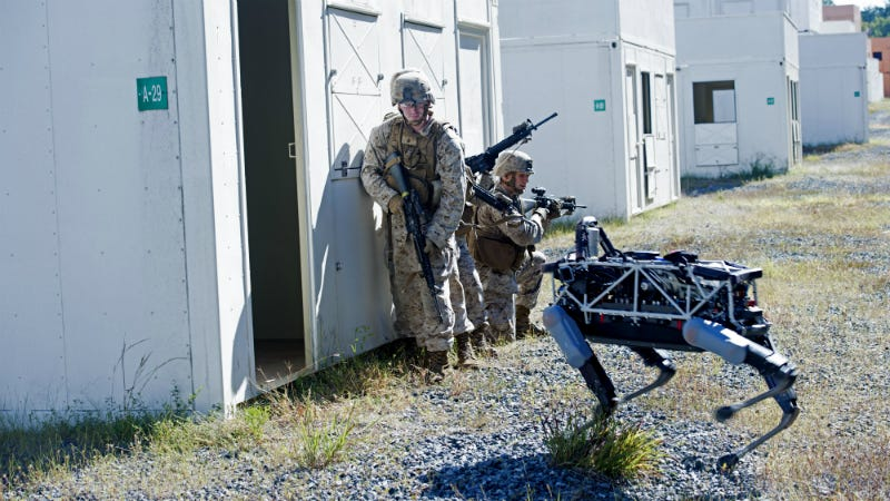 Illustration for article titled The Marines Are Sending This Robotic Dog Into Simulated Combat