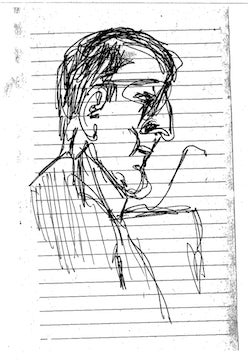 Illustration for article titled Courtroom Sketches Of A Guy Doing Courtroom Sketches At The Barry Bonds Trial