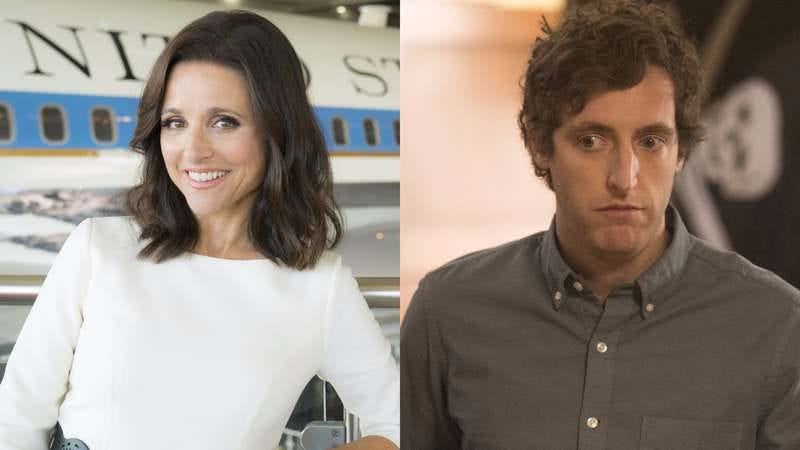 Julia Louis-Dreyfus (left), Thomas Middleditch (photos: Justin M. Lubin; John P. Johnson)