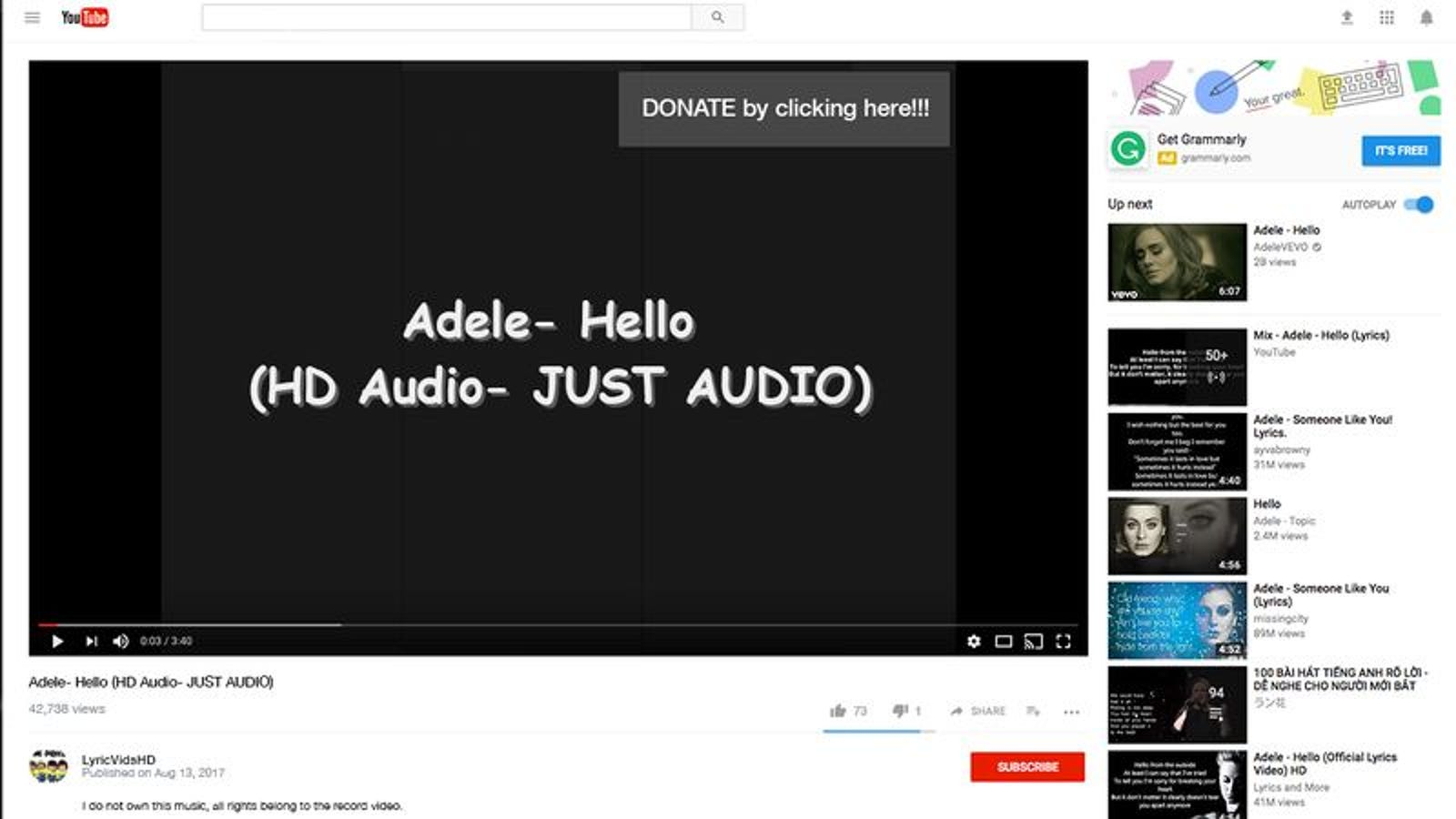 The Mind Behind Lumineers Ho Hey Lyric Video UNOFFICIAL Has Officially Come Out Of Retirement With A New Release Called Adele Hello HD Audio JUST