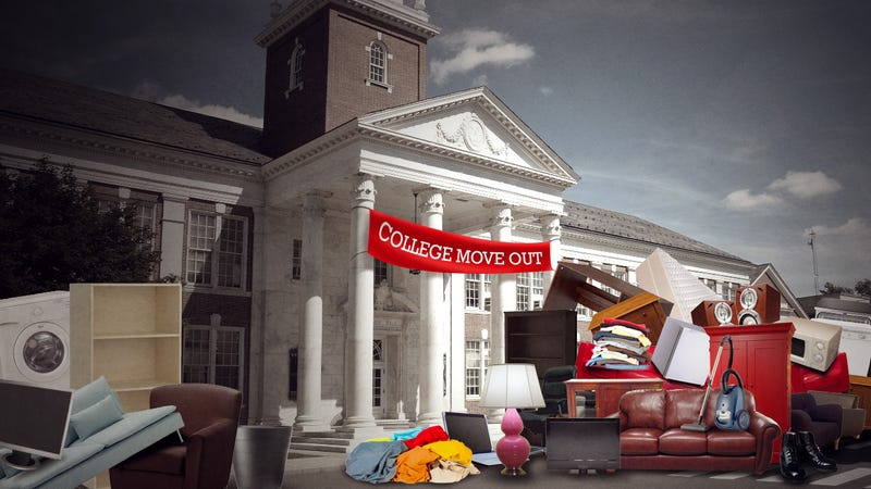 Illustration for article titled College Move Out: What to Do with All That Perfectly Good Stuff