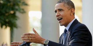 President Barack Obama discusses the Affordable Care Act during a recent news conference. (Chip Somodevilla/Getty Images)