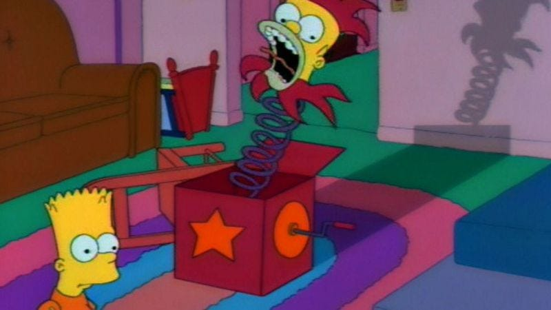 """Illustration for article titled The Simpsons (Classic): """"Treehouse Of Horror II"""""""