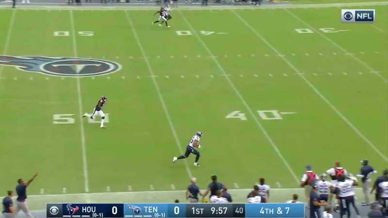 Illustration for article titled Titans Run A Very Neat Fake Punt For 66-Yard TD