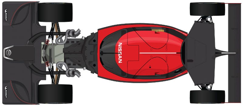 Illustration for article titled What's underneath the bodywork of the Nissan GT-R LM Nismo?