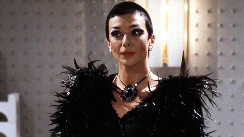 Pearce in one of Servalan's many iconic looks from Blake's 7.
