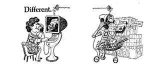 Illustration for article titled This Ad Promised 3D Videophones and Robot Shoppers by the Year 2000
