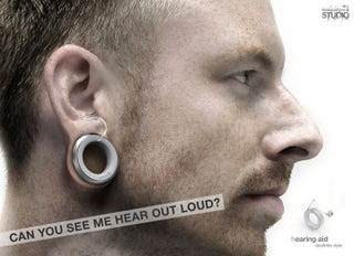 Illustration for article titled PLUG Hearing Aid Concept Stretches Your Earlobes for Better Sound