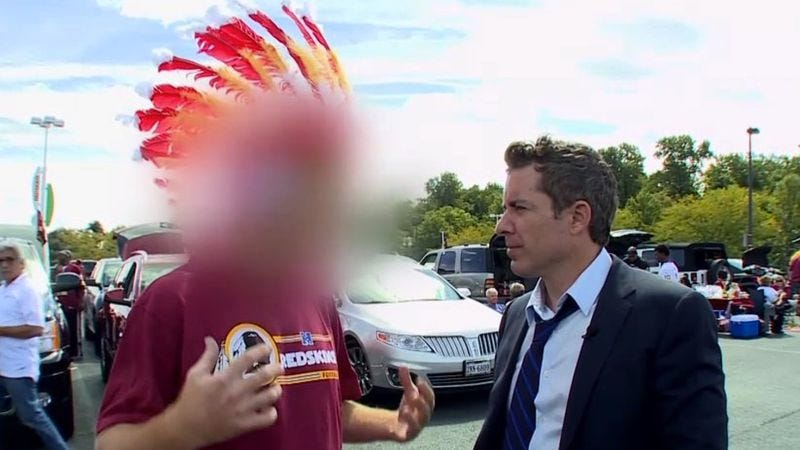 "Illustration for article titled Daily Show panelists say Redskins fans threatened to ""cut"" them"