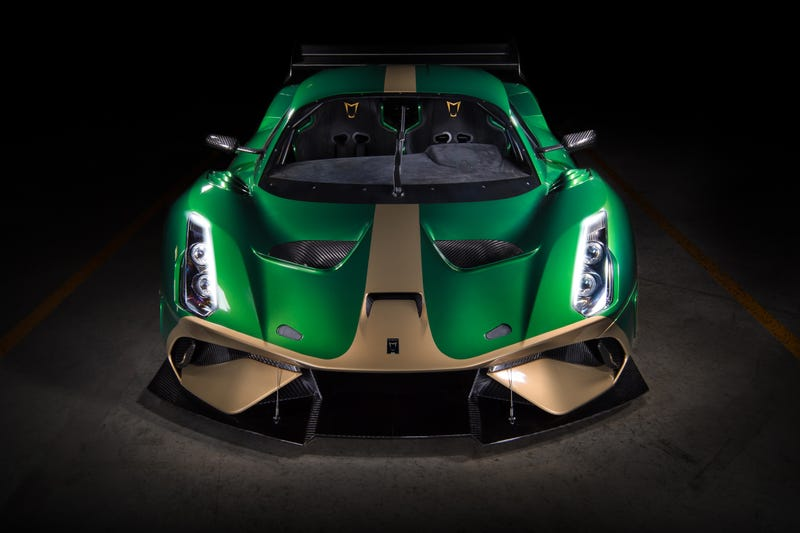 Illustration for article titled Brabham Is Back With The BT62: A 700 HP, $1.3 Million Carbon Fiber Track-Only Monster