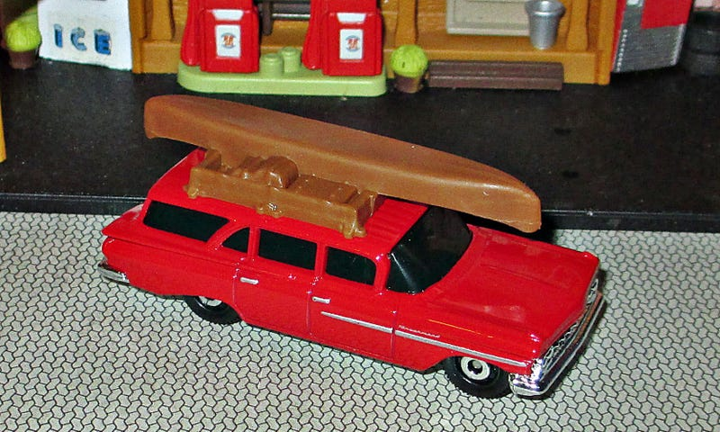 Illustration for article titled Wagon with Canoe Wednesday: Matchbox '59 Chevy