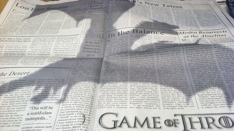 Illustration for article titled Game of Thrones Takes Over The New York Times With Awesome Print Ad
