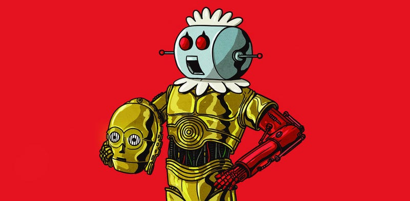 """C-3PO Unmasked"" by Alex Solis. All Images: Gallery 1988"
