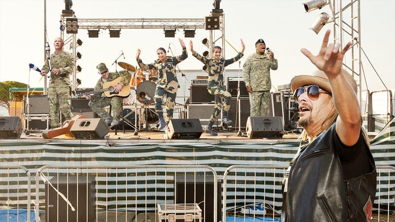 Kid Rock at a concert.