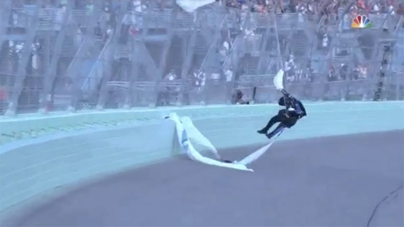 NASCAR Catch Fence Lives Up To Its Name