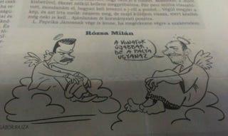 Illustration for article titled Ízléses karikatúrában foglalkozik az öngyilkossággal a Népszava