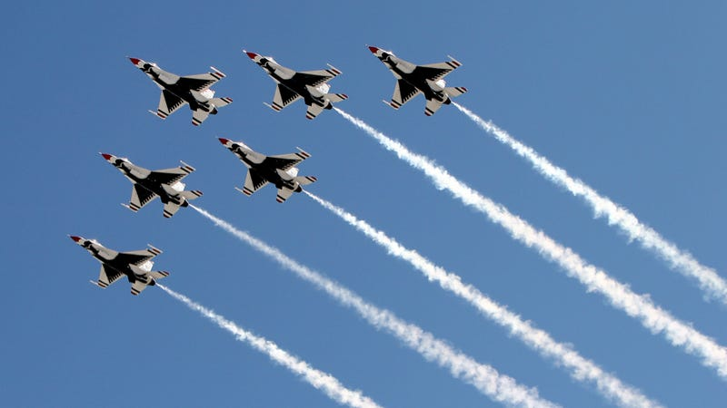 Photo of the Thunderbirds performing earlier this year credit: Getty Images