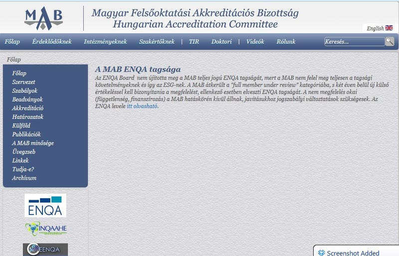 Illustration for article titled Leminősítette az európai akkreditációs szervezet a MAB-ot