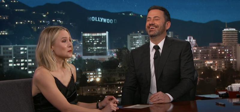 Kristen Bell, Jimmy Kimmel (Screenshot: ABC)