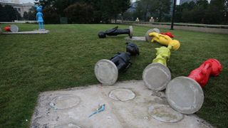 On Sunday, 13 Tuskegee Airmen tribute statues were vandalized in Chicago.Twitter