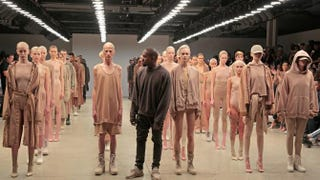 Kanye West (center) poses during the finale of his Yeezy season 2 during New York Fashion Week on Sept. 16, 2015, in New York City.Randy Brooke/Getty Images for Kanye West