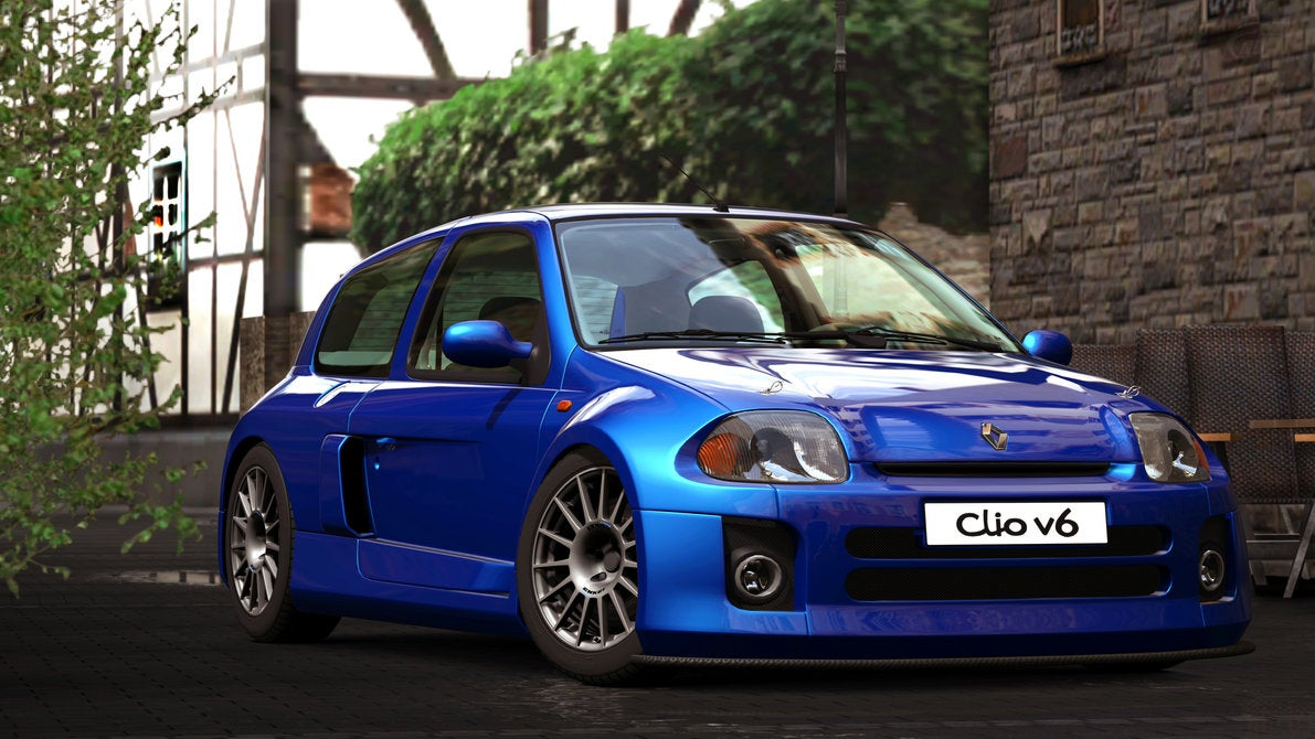 gran turismo car review renaultsport clio v6. Black Bedroom Furniture Sets. Home Design Ideas