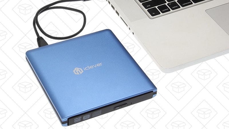 iClever USB 3.0 CD/DVD-RW Drive, $21 with code ICDVD008