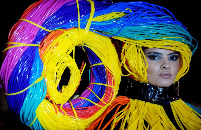 Illustration for article titled Ethernet Cable Fashion Show Looks Like A Data Center Disaster