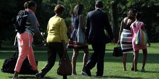 The first family departs the White House for Africa. (Alex Wong/Getty Images News)