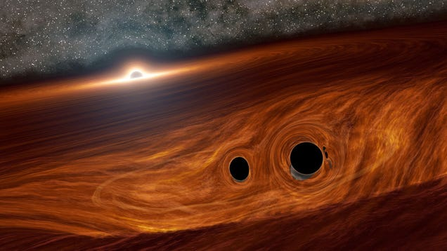 For the First Time Ever, Astronomers Spot Light From a Black Hole Smash-up