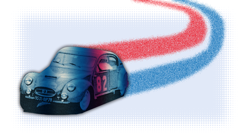 Illustration for article titled This Small French Tuning Shop Made Citroën 2CVs Into Race Cars